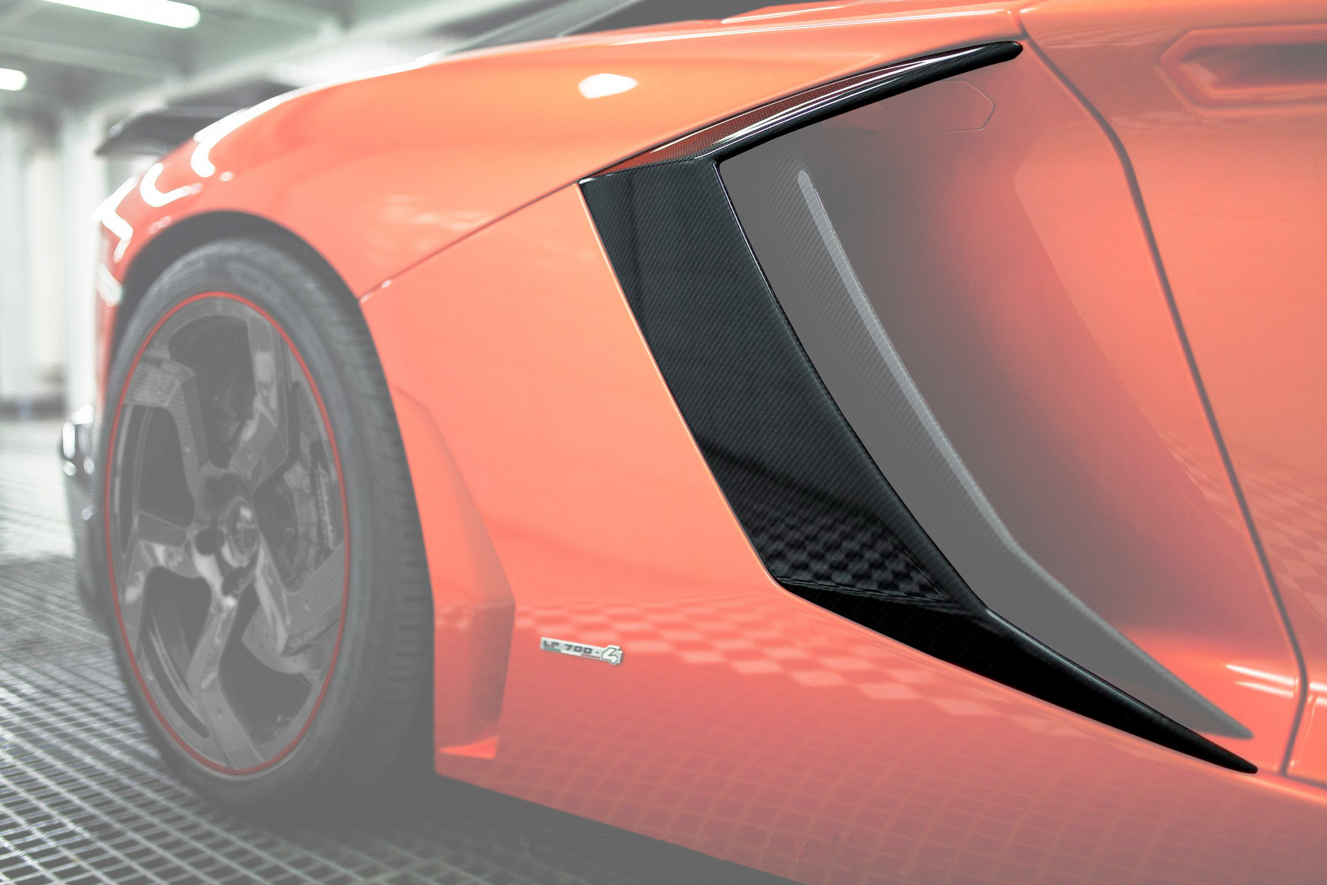 Wide Side Carbon Intake Mansory Style 2 for Lamborghini Aventador