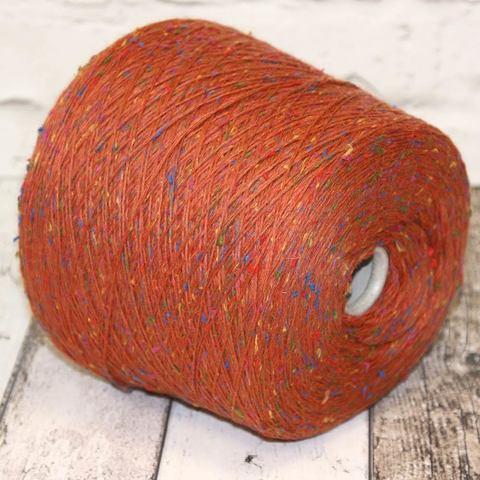 Твид c модалом и кашемиром GIANDUIA 375 оранжевый мультиколор