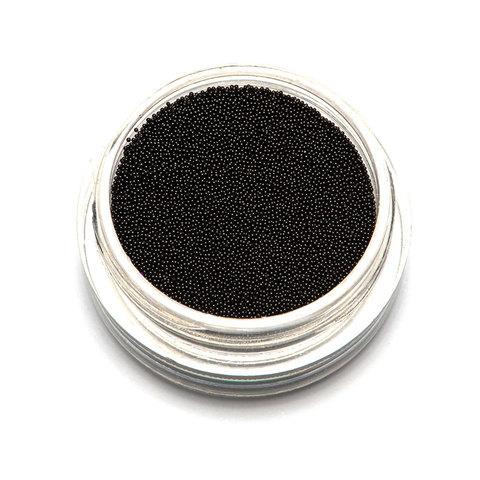 Бульонки супер мелкие - черные - 0,2 мм (3 гр.)