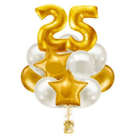 Фонтан из шаров на 25 лет