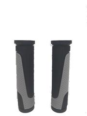 Грипсы MTB XH-G56B 125mm,  резина,черно\серые
