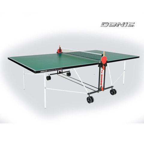 Теннисный Donic стол Indoor Roller FUN зеленый