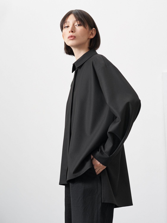 Блуза Goldy с удлинением сзади, Черный