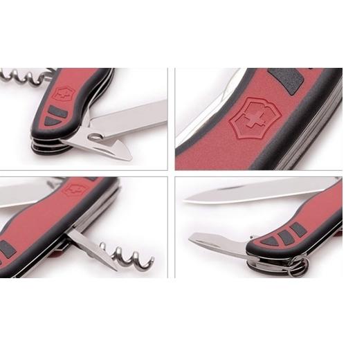 Складной нож Victorinox Nomad, 111 мм., 9 функций, чёрный/красный (0.8351.C)