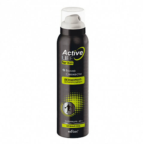 Белита Active Life Дезодорант-антиперспирант для него Волна свежести 150мл