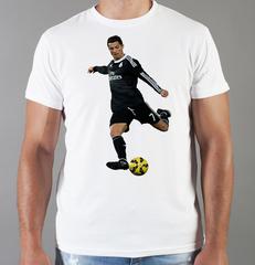 Футболка с принтом Криштиану Роналду (Cristiano Ronaldo) белая 005