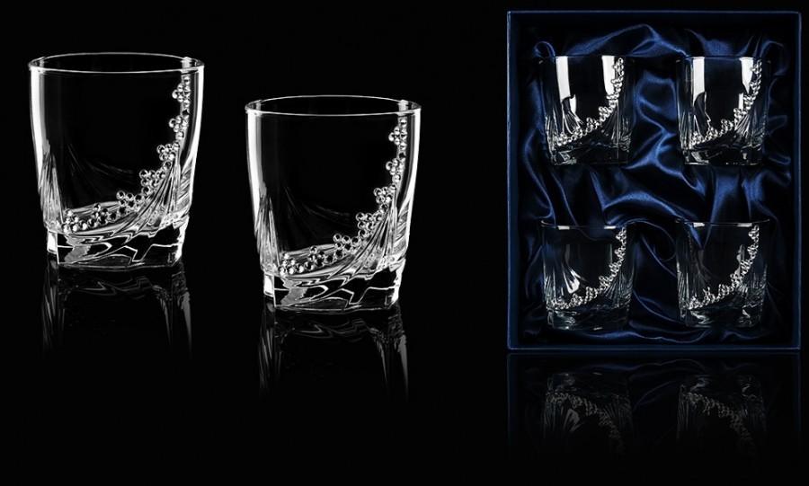 Подарочный набор из 4 стаканов для виски «Бриллиантовый» набор стаканов для виски 6 шт bohemia набор стаканов для виски 6 шт