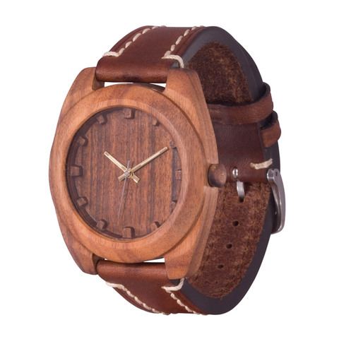 Часы из дерева AA Wooden Watches Вудкьюб Палисандр