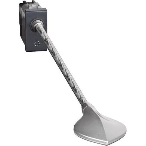 Точечный светильник для чтения LED. 230В 3,3 Вт 110Лм, 1 модуль. Цвет Антрацит. Bticino LIVINGLIGHT. L4362
