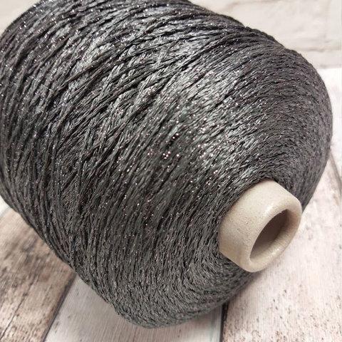 Шнурок п/а с люрексом ILARIA /CHITA 280 серый с графитом