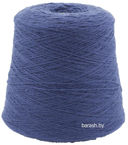 Бобинная пряжа Новозеландская 100% шерсть (50гр/200м) Цвет: синий. Цена за 50г