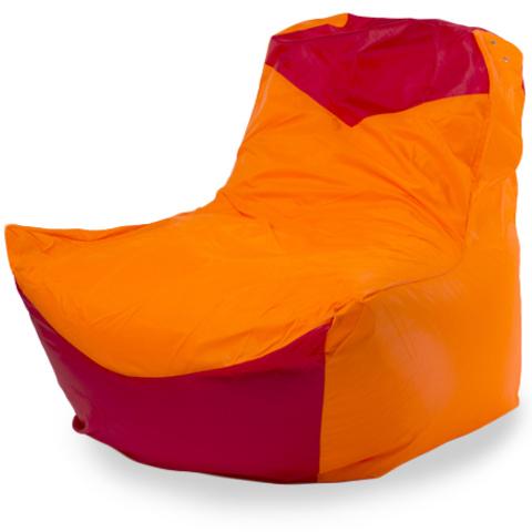 Бескаркасное кресло «Классическое», Оранжевый и красный