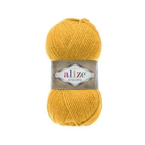 Пряжа Alize Alpaca Royal горчица 02