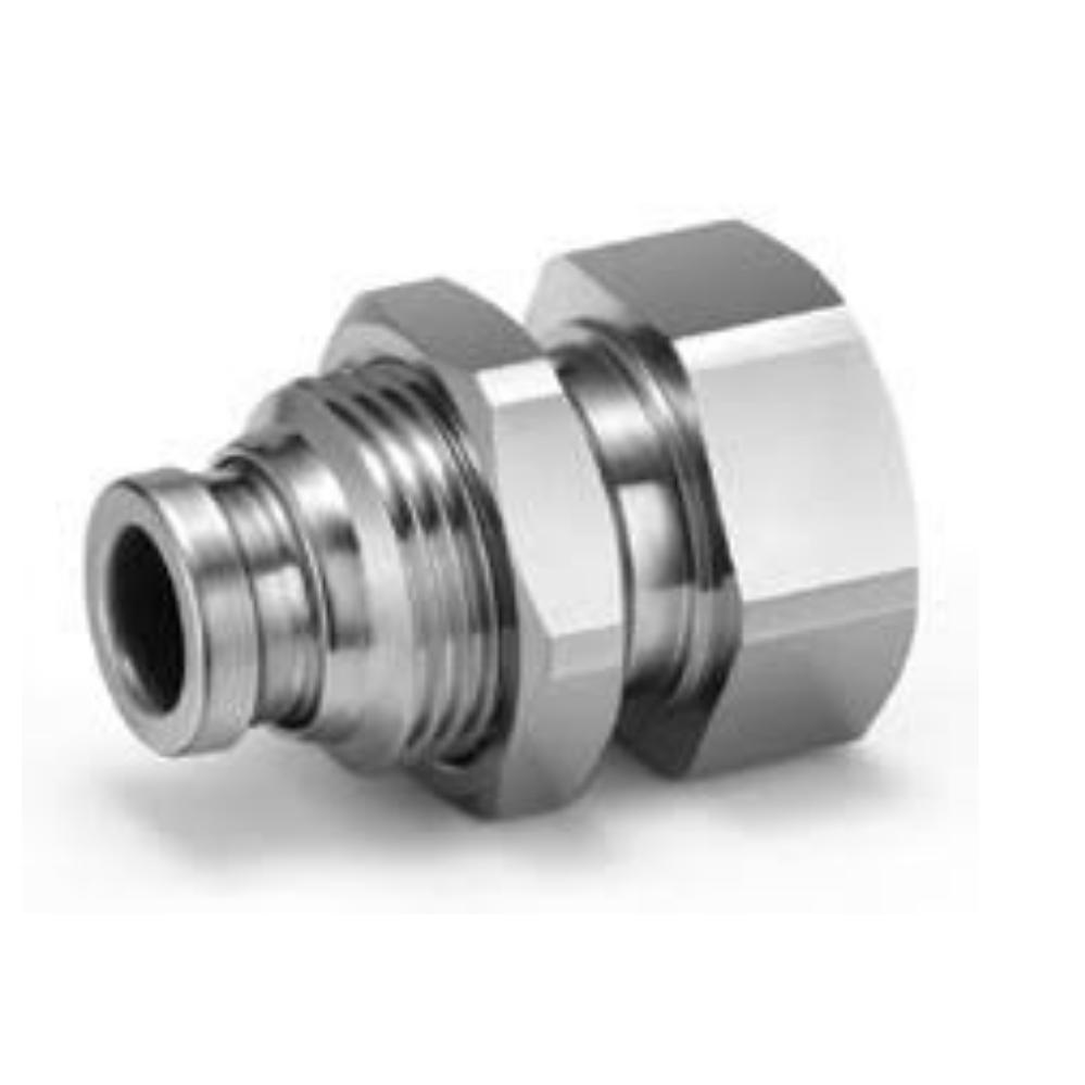 KQG2E10-02  Соединение для панельного монтажа, нерж.,  до 150 град
