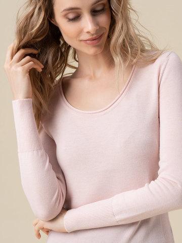 Женский джемпер светло-розового цвета из 100% кашемира - фото 3
