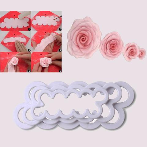 Формы-вырубки для создания роз из мастики, 3 шт