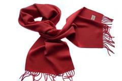 Шерстяной шарф, мужской алый 16702