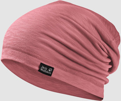 Шапка-бини Jack Wolfskin Travel Beanie rose quartz (55-59см)