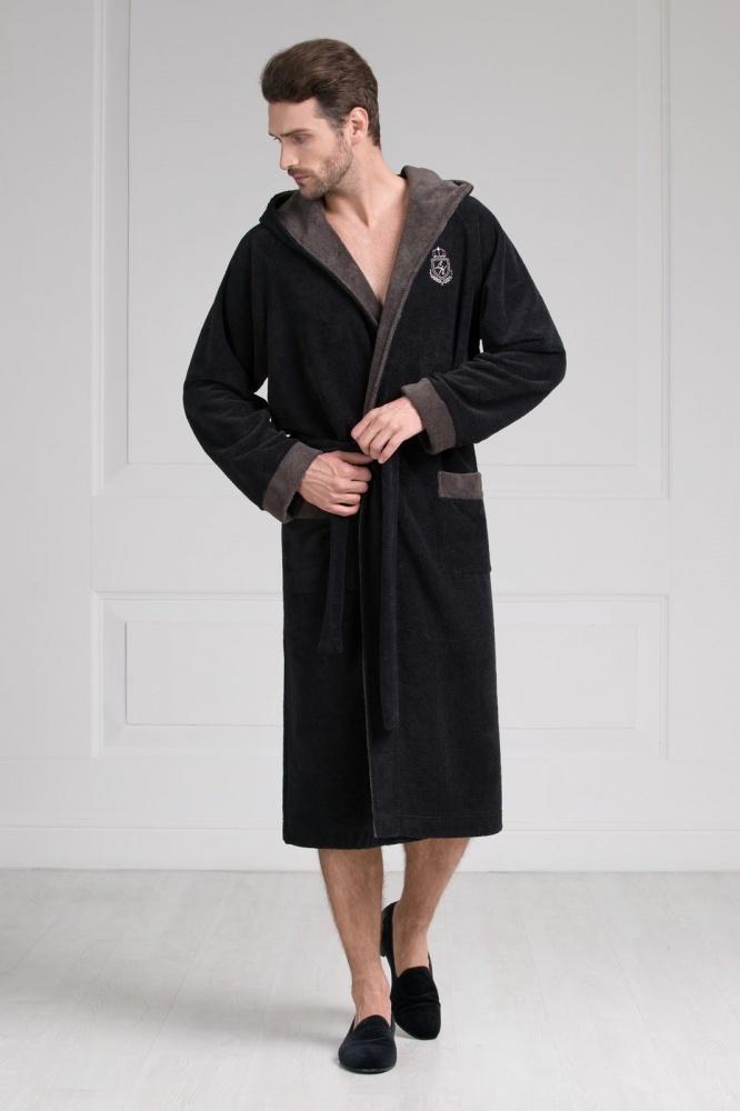 Халаты мужские Мужской бамбуковый халат с капюшоном 11008-7 Laete 11008-7.jpeg