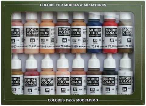 Model Color Face & Skin Tones (16) 17 ml.