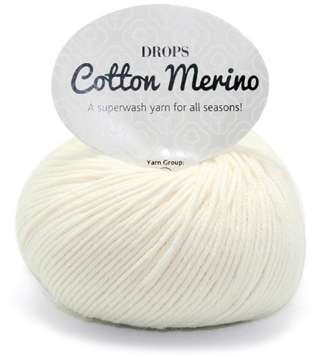 Пряжа Drops Cotton Merino 01 натуральный