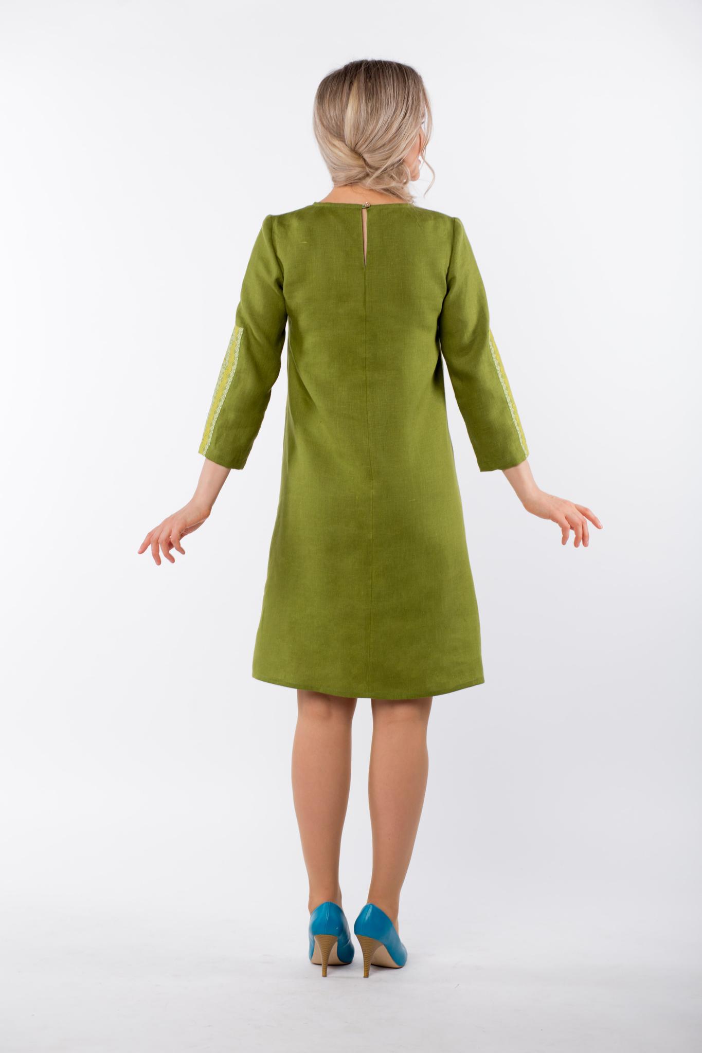 Платье льняное Розмарин вид сзади