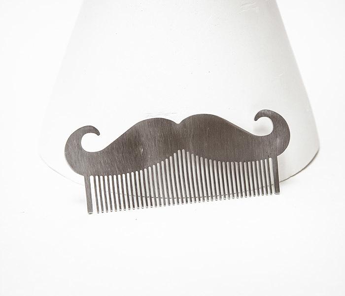 CARE167 Стальной гребень расческа для бороды