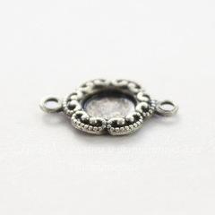 Сеттинг - основа - коннектор (1-1) для камеи или кабошона 5 мм (оксид серебра)
