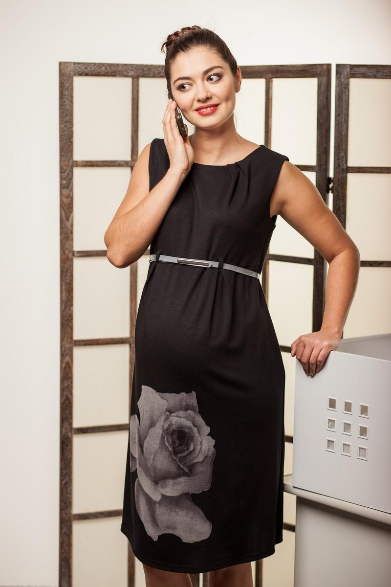 Платье для беременных 06198 большой цветок