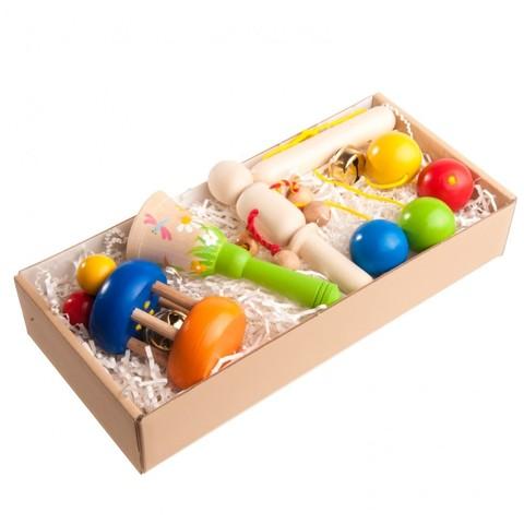 Подарочный набор погремушек Яркий в подарочной коробке