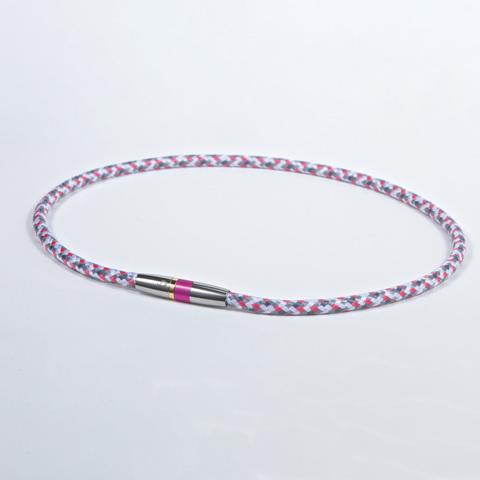 Ожерелье PHITEN RAKUWA NECKLACE X50 HIGH-END III (бело-розово-серое)