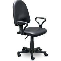 Кресло офисное Prestige черное (кожзаменитель/пластик)