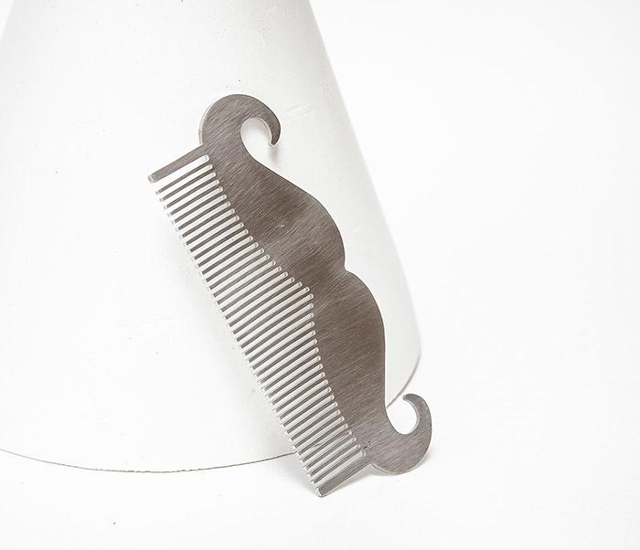 CARE167 Стальной гребень расческа для бороды фото 03