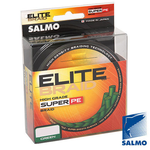 Плетеный шнур SALMO Elite braid 91m – 0,20, зеленый цвет