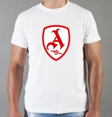 Футболка с принтом FC Arsenal (ФК Арсенал) белая 007