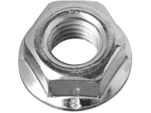 Гайка DIN 6923 с фланцем, M8, 6 шт, кл. пр. 8, оцинкованная, ЗУБР