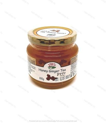 Корейский имбирь с медом в банке, 300 гр.