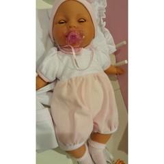 Munecas Antonio Juan Кукла Габи в розовом, с открывающимися глазами (плачет), 37 см (1444P)