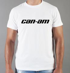 Футболка с принтом Can-Am (BRP) белая 003