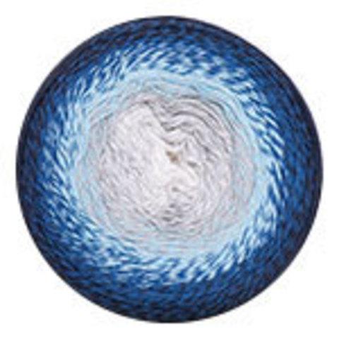 YarnArt Flowers 261 синий/голуб/серый
