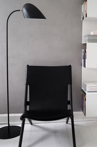 Лампа напольная Hitchcock, черная матовая