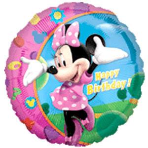 Фольгированный шар С Днем Рождения Минни 18