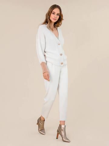 Женские брюки молочного цвета из 100% шерсти - фото 2