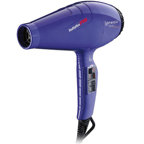 Фен для волос BaByliss Luminoso giallo 2100 Вт, с ионизацией синий