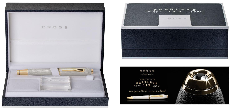 Cross Peerless 125 - Gold, шариковая ручка, M, BL