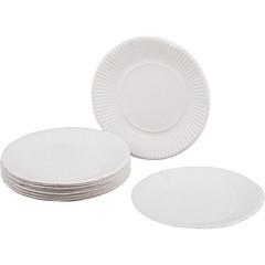 Тарелка одноразовая бум., d 170 мм, белая 100шт./уп.10уп./кор.