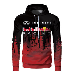 Толстовка 3D принт, Разводы, Инфинити (3Д Худи Infiniti racing) Красная / черная