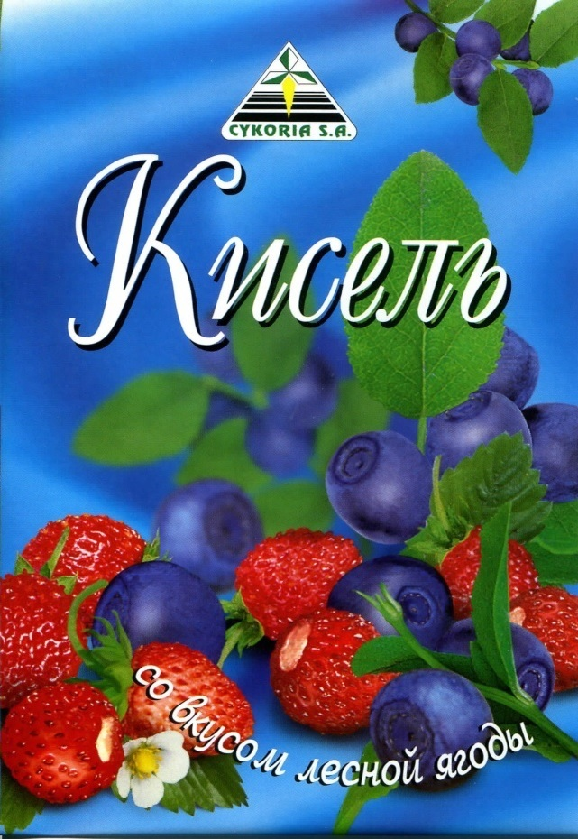 Кисель со вкусом лесной ягоды, 50п х 90г