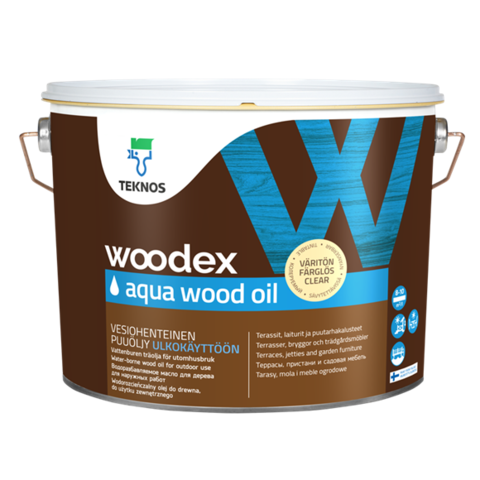 TEKNOS WOODEX AQUA WOOD OIL/Текнос Вудекс Аква Вуд Ойл Масло для дерева