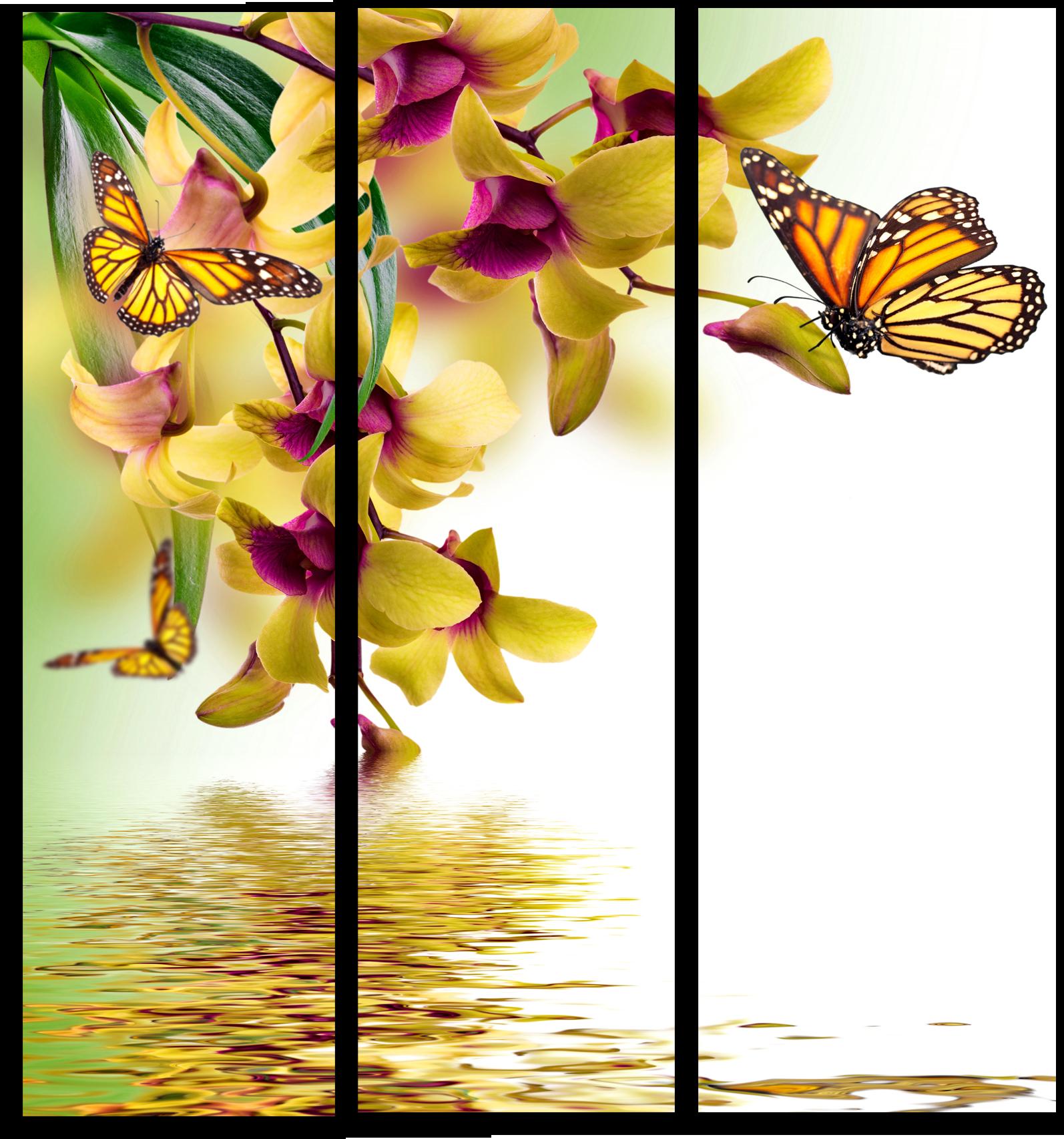 """Модульные картины Модульная картина """" Бабочка на цветке"""" М626.png"""